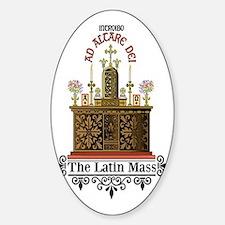 As Altare Dei Latin Mass Sticker (Oval)
