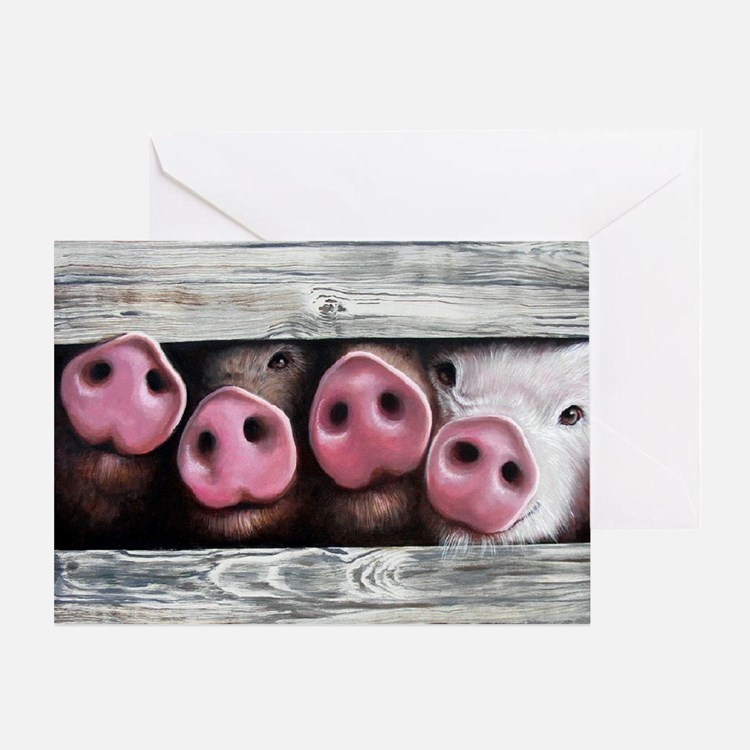 Four in a Row Greeting Card
