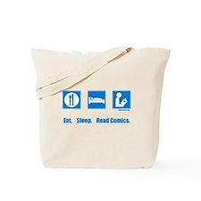 Eat. Sleep. Read comics Tote Bag