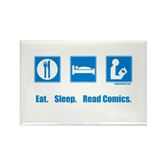 Eat. Sleep. Read comics Rectangle Magnet
