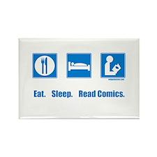 Eat. Sleep. Read comics Rectangle Magnet (10 pack)