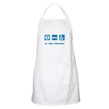 Eat. Sleep. Read comics BBQ Apron | Gifts For A Geek | Geek T-Shirts