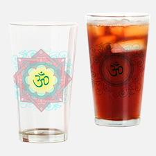 OM Symbol Drinking Glass