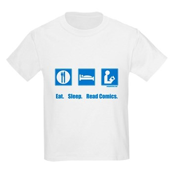 Eat. Sleep. Read comics Kids Light T-Shirt | Gifts For A Geek | Geek T-Shirts