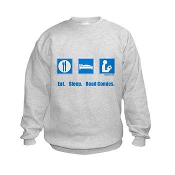 Eat. Sleep. Read comics Kids Sweatshirt   Gifts For A Geek   Geek T-Shirts