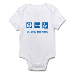 Eat. Sleep. Read comics Infant Bodysuit