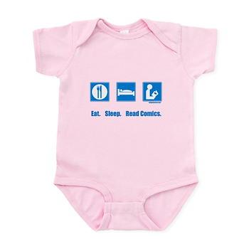 Eat. Sleep. Read comics Infant Bodysuit | Gifts For A Geek | Geek T-Shirts