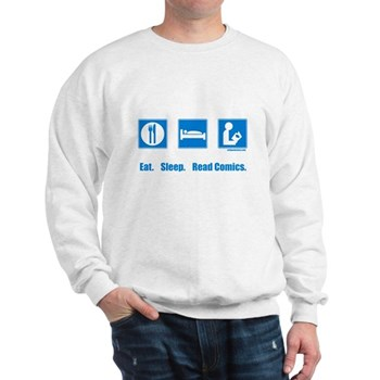 Eat. Sleep. Read comics Sweatshirt | Gifts For A Geek | Geek T-Shirts