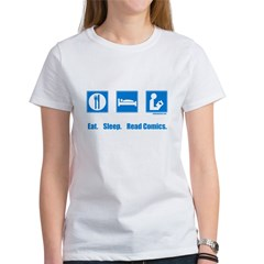 Eat. Sleep. Read comics Women's T-Shirt