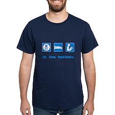 Eat. Sleep. Read comics T-Shirt