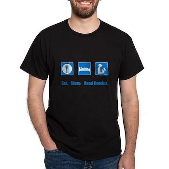 Eat. Sleep. Read comics Dark T-Shirt | Gifts For A Geek | Geek T-Shirts