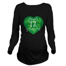 stPatricksDesign17A Long Sleeve Maternity T-Shirt
