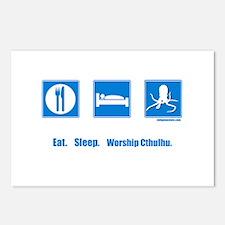 Eat. Sleep. Worship Cthulhu Postcards (Package of