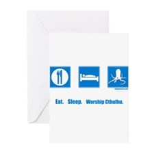 Eat. Sleep. Worship Cthulhu Greeting Cards (Packag