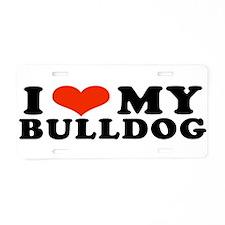 IHeartBulldog.jpg Aluminum License Plate