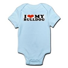 IHeartBulldog.jpg Infant Bodysuit