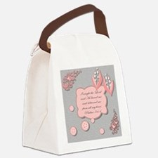 psalm 34 pillow Canvas Lunch Bag