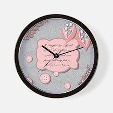 psalm 34 pillow Wall Clock