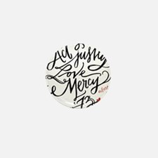 Act Justly. Love Mercy. (white) Mini Button