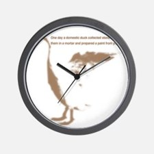 wt-pull_dduck Wall Clock