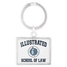 Illustrated School of Law Landscape Keychain