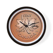 Canadian Penny Wall Clock