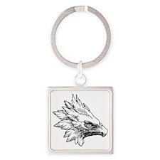 Eagle Square Keychain
