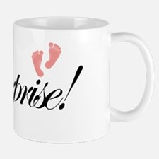 SurpriseSmallFeetBlack Mug