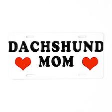 Dachshund_Mom2.jpg Aluminum License Plate