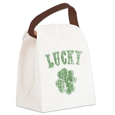 lucky-shamrock-LTT Canvas Lunch Bag