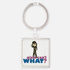 Army Girl Square Keychain