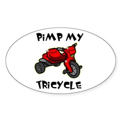Pimp My Tricycle Oval Decal