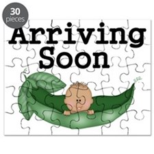 Arriving Soon-African American Baby Puzzle
