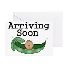 Arriving Soon-African American Baby Greeting Card