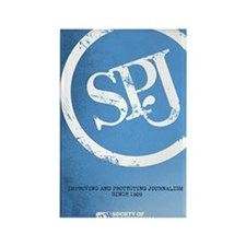 We love SPJ Rectangle Magnet