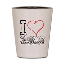 I Love Cruising Shot Glass