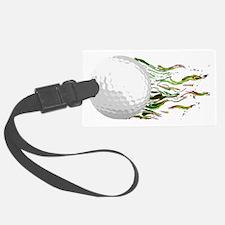 Flaming Golf Ball Club PGA Maste Luggage Tag