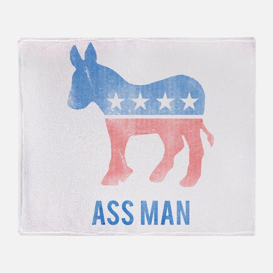 Ass Man Democrat Throw Blanket
