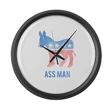 Ass Man Democrat Large Wall Clock