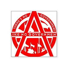 """No Government Square Sticker 3"""" x 3"""""""