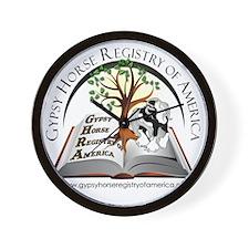 Gypsy Horse Registry of America Wall Clock