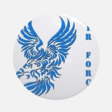 US Air Force Tribal Eagle Round Ornament