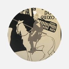 Don Quixote Round Ornament