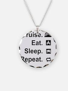 Cruise. Eat. Sleep. Necklace