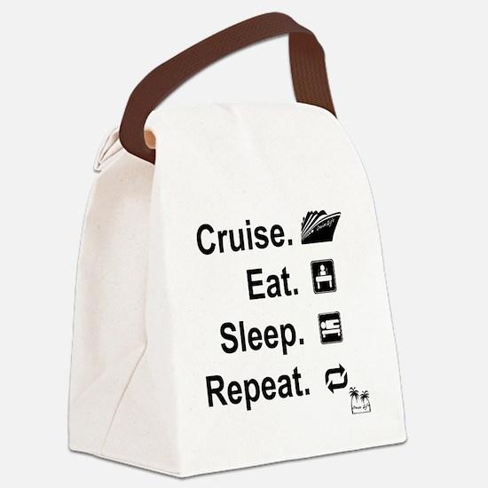 Cruise. Eat. Sleep. Canvas Lunch Bag