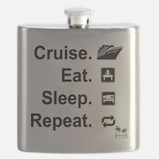 Cruise. Eat. Sleep. Flask