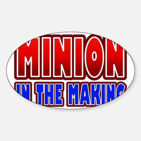 Minion in the Making Pregnant Sticker (Oval)