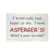 I Have Asperger's! Rectangle Magnet (10 pack)