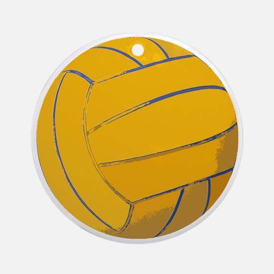 Waterpolo Ball US Olympics Swimming Round Ornament