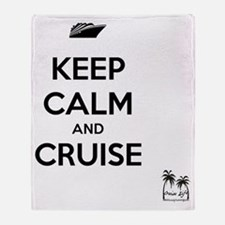 Keep Calm and Cruise Throw Blanket
